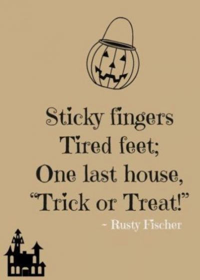 Trick Or Treat Sayings