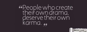 Good Karma Quotes for Facebook COver