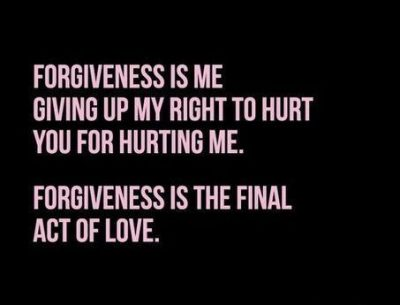 Forgiveness Is Final Act Of Love