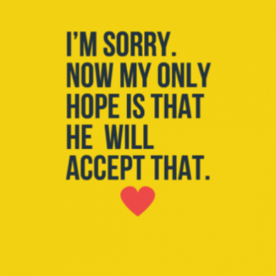 Being Sorry In Love Quotes