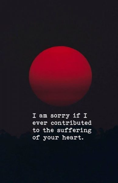 Being Sorry Quotes