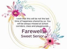 Farewell Wishes For Seniors