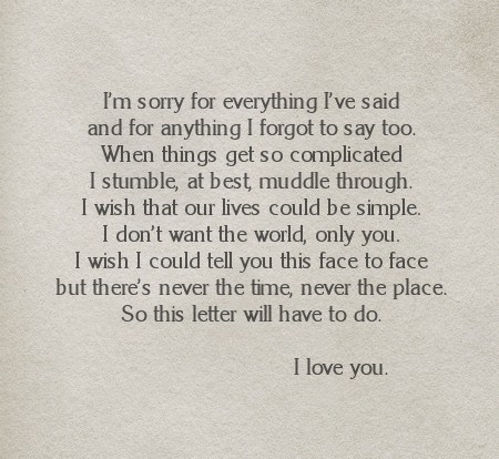 To say love i sorry you and words 50+ 'Thinking