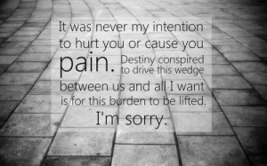 Cute heartfelt I'm Sorry quotes images for her