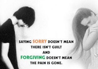 Sad Quotes About Being Sorry