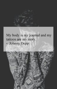 Famous Johnny Depp Quotes about tattoos images hd
