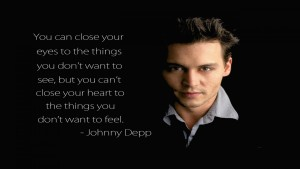 Johnny depp pictures with love quotes