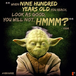yoda birthday quotes pictures