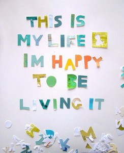 I am happy with my life quotes images