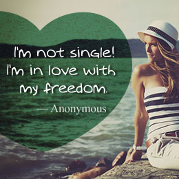 I'm Happy being Single QUotes Images