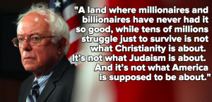 Bernie Sanders Quotes about Billionares and Poverty Images
