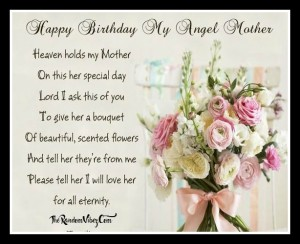 Best Birthday Quotes for Mother in Heaven from Son