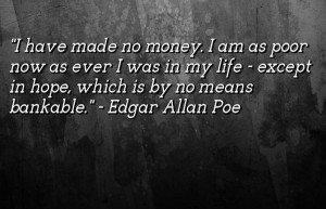 Edgar allan poe quotes money images