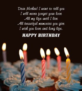 Happy Birthday Dear Mom Quotes Images