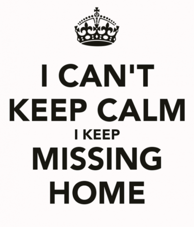 I can't Keep Calm Missing Home