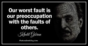 Khalil Gibran Quotes on Fault images