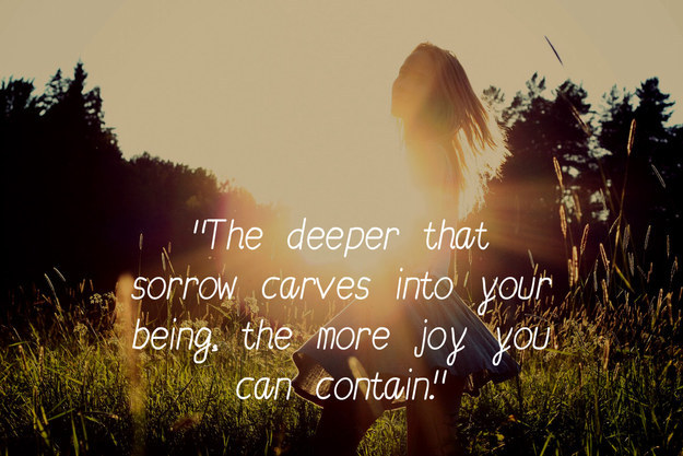 Khalil Gibran The Prohet Quotes On Sorrows