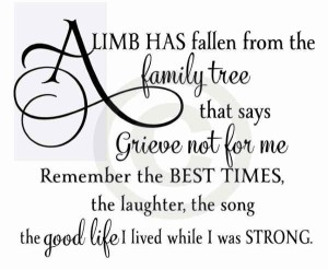 Quotes about Death of a Family Member IMages
