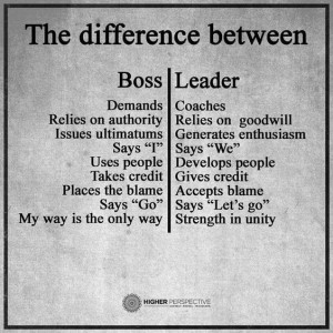 Pictures Quotes about Leader n Boss