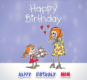 Sweet Happy Birthday Cards for Mom from Daughter Images