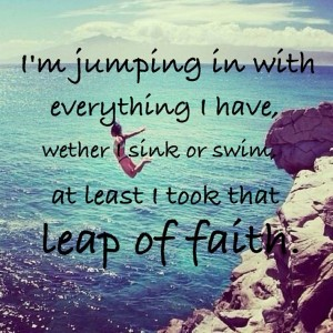 Taking leap of faith quotes images hd