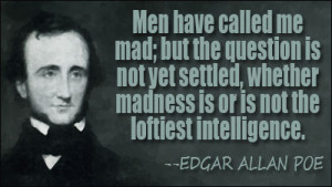 edgar allan poe quotes on madness images