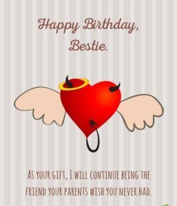 Funny Birthday Wish for Best Friend IMages