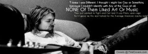 Kurt Cobain Quotes Facebook Cover
