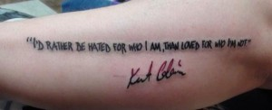 Kurt Cobain Quotes Tattoo Designs Images