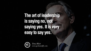 Leadership Quotes for Managers by Tony Blair Images