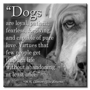 Quotes about Dogs being Loyal IMages