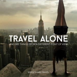 Traveling Alone Quote