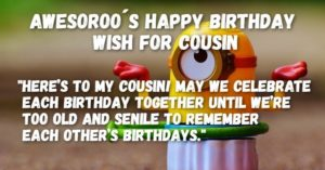 funny birthday wishes for cousin