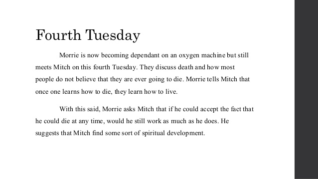 tuesdays with morrie inner conflicts Themes in tuesdays with morrie book, analysis of key tuesdays with morrie themes.