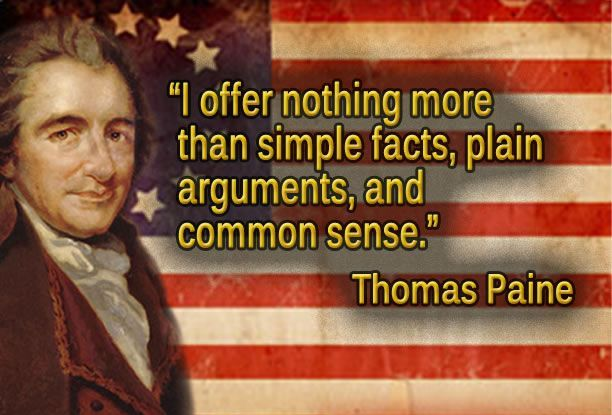 thomas paine essay common sense urged the colonists to fight for their indepence