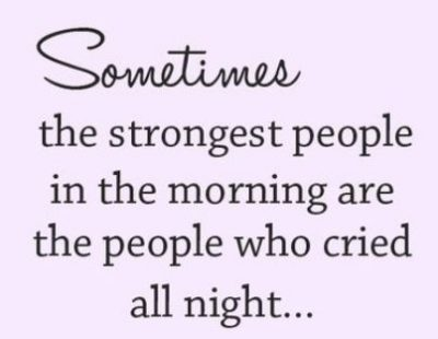 Being Strong In Tough Times