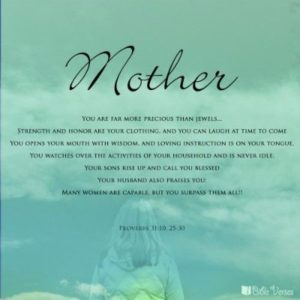 Inspirational Bible Verses for Mothers