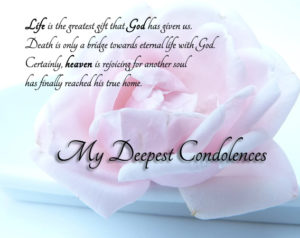 My Deepest Condolences quotes