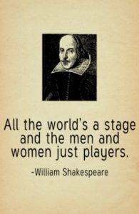 Shakespeare Quote Actors on a Stage
