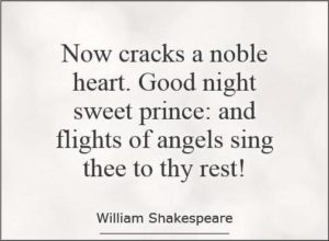 Shakespeare Quotes Goodnight Sweet Prince