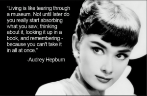 Audrey Hepburn Quoted