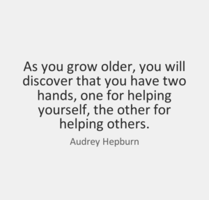 Audrey Hepburn Quotes Two Hands