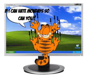 Cute Garfield I Hate Mondays Wallpaper