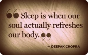 Deepak Chopra Quotes Sleep & Stress