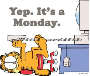 Garfield I Hate Mondays Meme