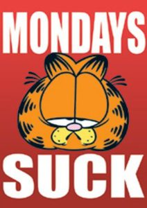 Garfield I hate Mondays Poster