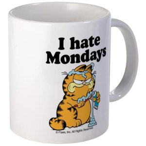 Garfield I hate Monndays Mug