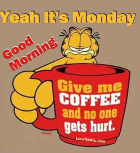 Garfield Monday Morning