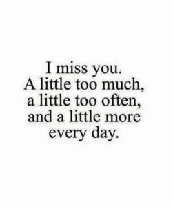 How much I miss you quotes for her