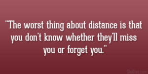 Sad Long Distance Relationship Quotes